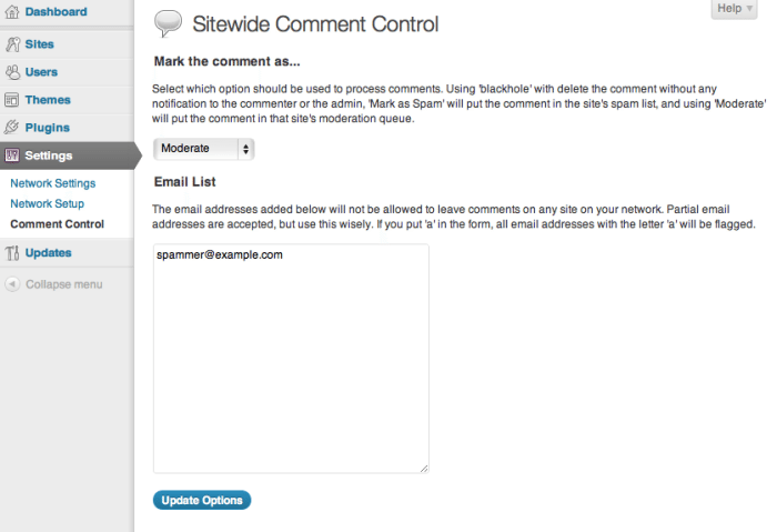 Ban, Spam and Moderate Commenters Sitewide on WordPress Multisite