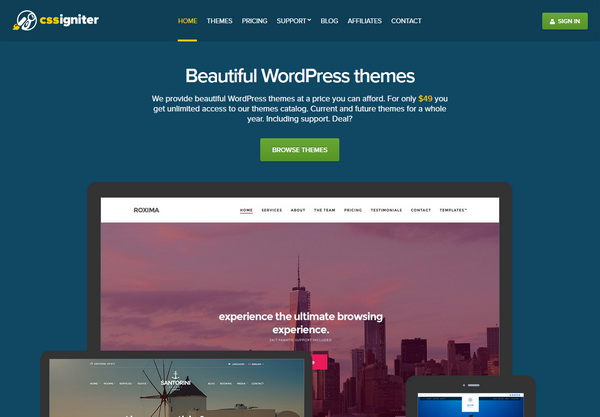 CSSIgniter – Beautiful WordPress Themes