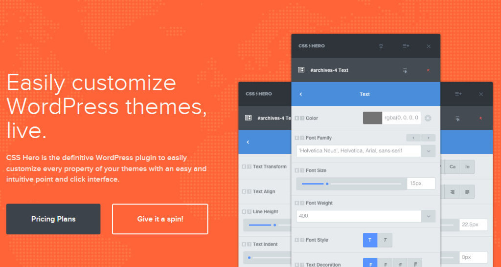 CSS Hero: Customize WordPress Themes Live