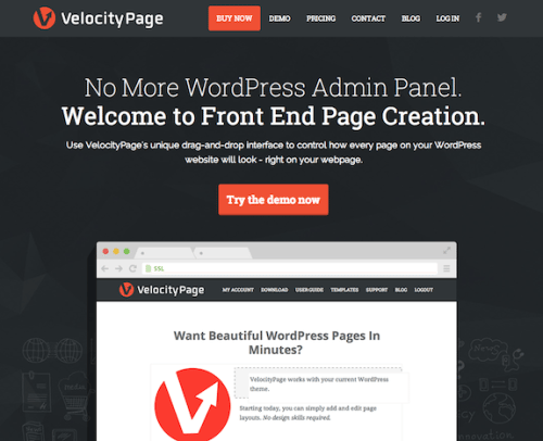 VelocityPage Review: Drag & Drop Front End Page Creation WordPress Plugin