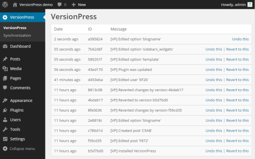 VersionPress: True Version Control Comes to WordPress