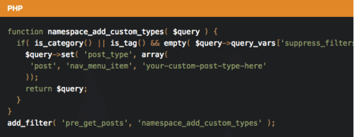 Make Archives.php Include Custom Post Types