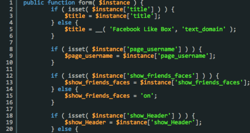 Building a Facebook Like Box WordPress Widget