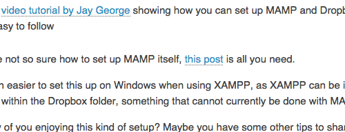 How to Set Up MAMP on Dropbox for WordPress Development