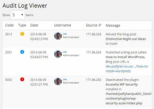 WP Security Audit Log Plugin Review: User Activity Logging for WordPress