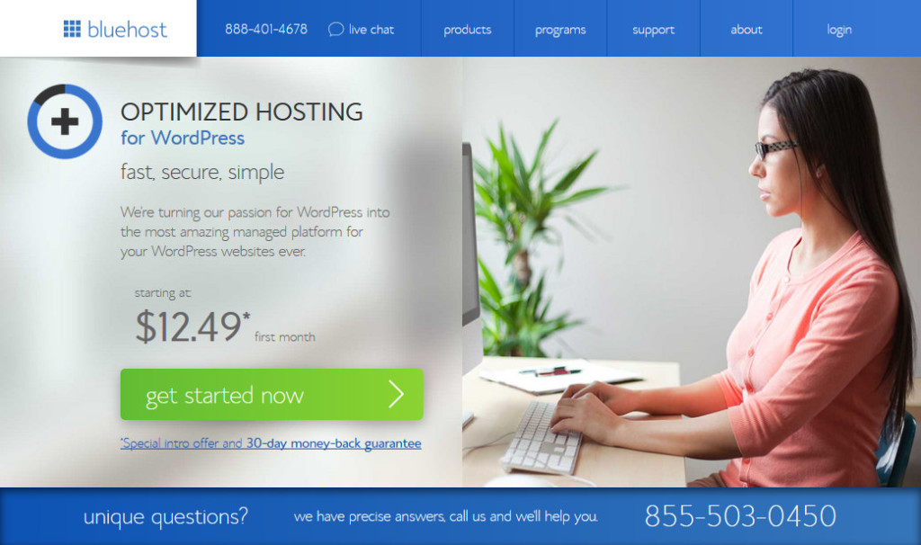 Bluehost – Optimized Hosting for WordPress