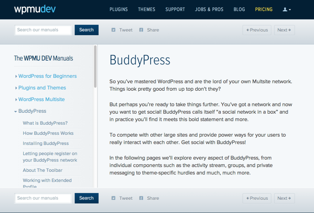 The WPMUDEV Manuals: BuddyPress