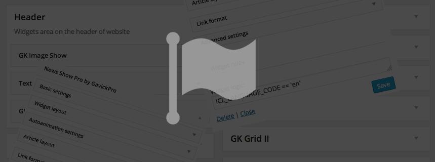 Displaying Widgets By Language