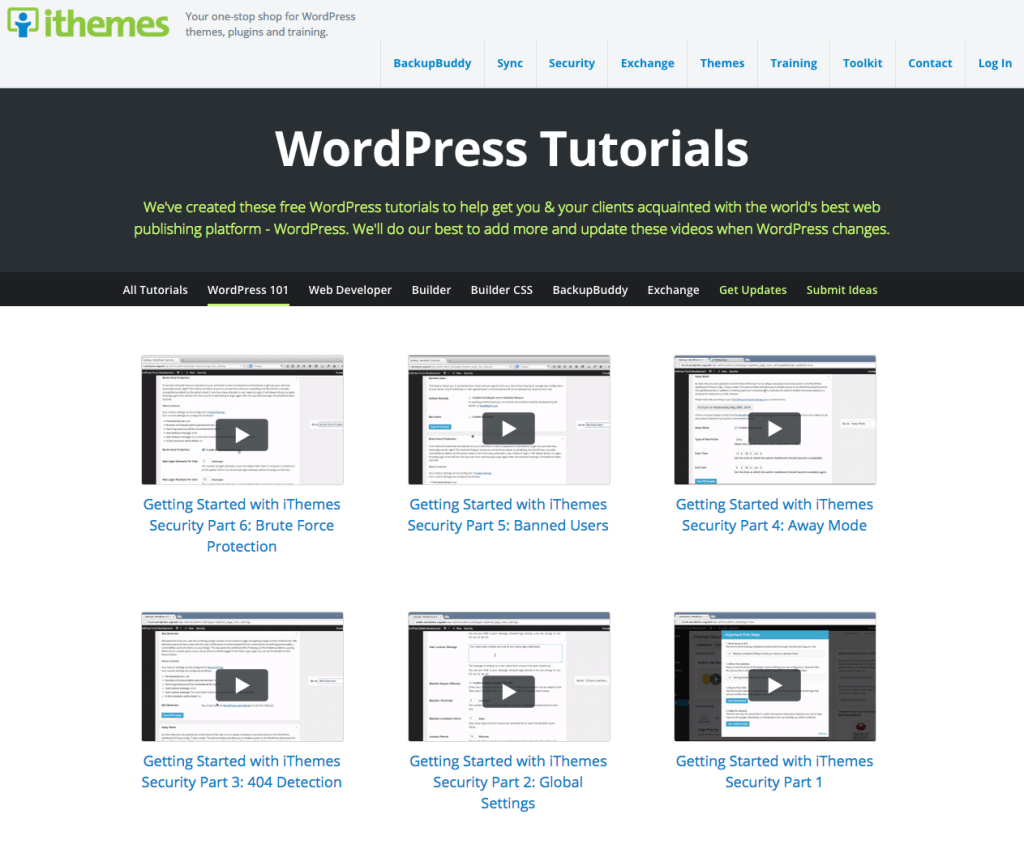 iThemes WordPress Tutorials