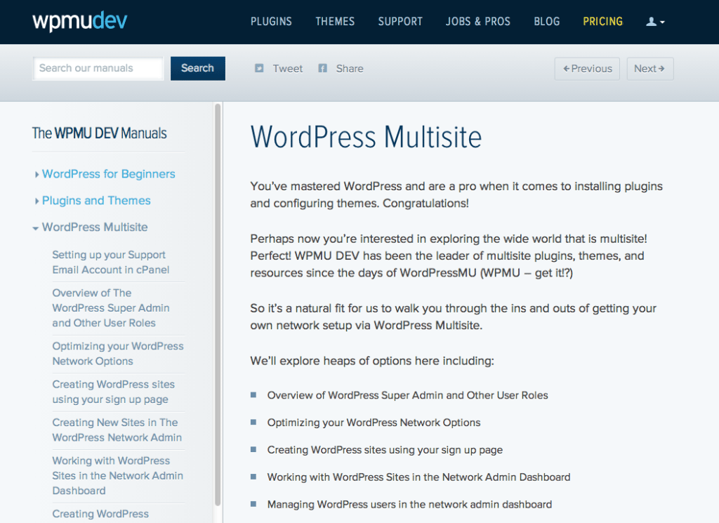 The WPMUDEV Manuals: WordPress Multisite