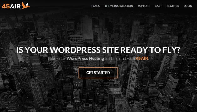 45AIR Managed WordPress Hosting