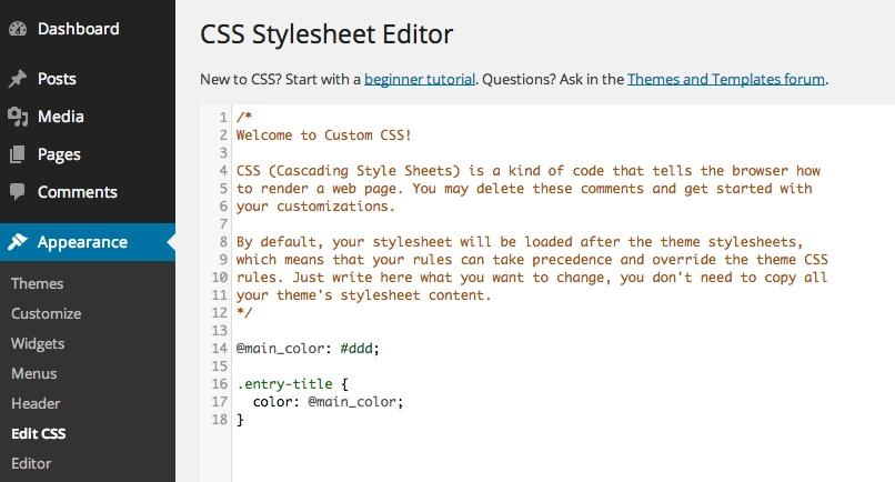 Adding Custom CSS to your WordPress theme