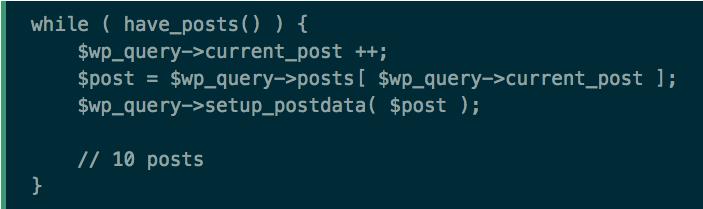 Asymmetrical WordPress loops
