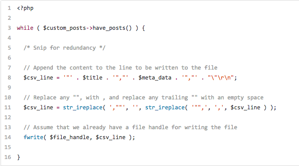 Idiosyncrasies of Creating a CSV in WordPress