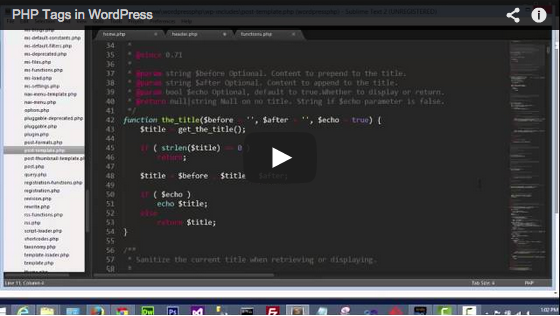 Video: PHP Tags in WordPress