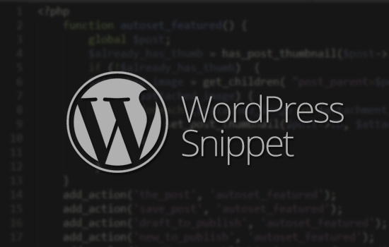 10 WordPress Snippets For Theme Customizations