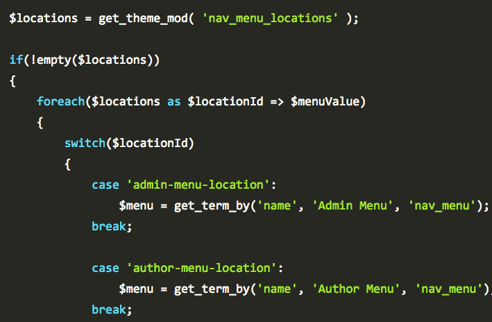 Programmatically Assign Menus To Theme Locations In WordPress