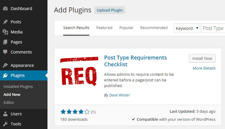 Add Content Requirement Checklists to the WordPress Post Editor