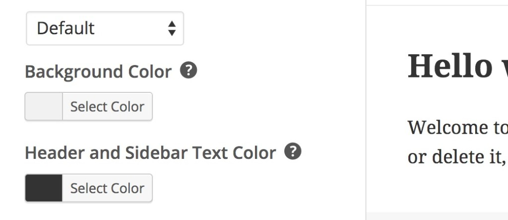 Using tooltips instead of option descriptions in the WordPress Theme Customizer