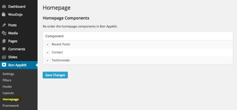 A Little Plugin Called Homepage Control by WooThemes