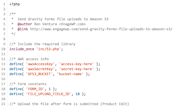 Send Gravity Forms File Uploads to Amazon S3