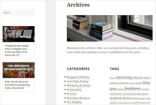 Building A Custom Archive Page For WordPress