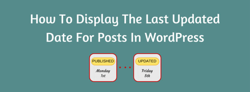 How To Display The Last Updated Date For Posts In WordPress