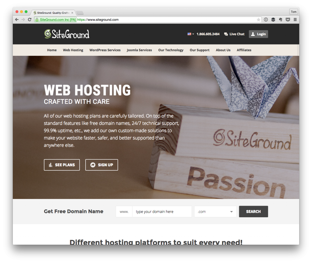 Using SiteGround For WordPress Hosting