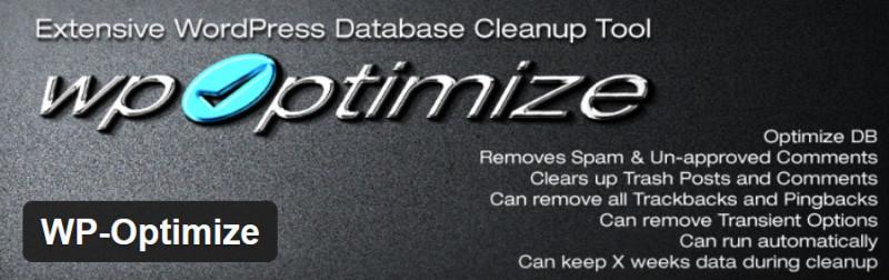 How To Optimize The WordPress Database: WP-Optimize