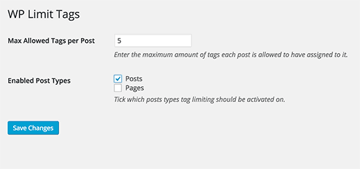 How to Set Maximum Number of Tags for WordPress Posts