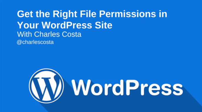 Watch: Get the Right File Permissions in Your WordPress Site