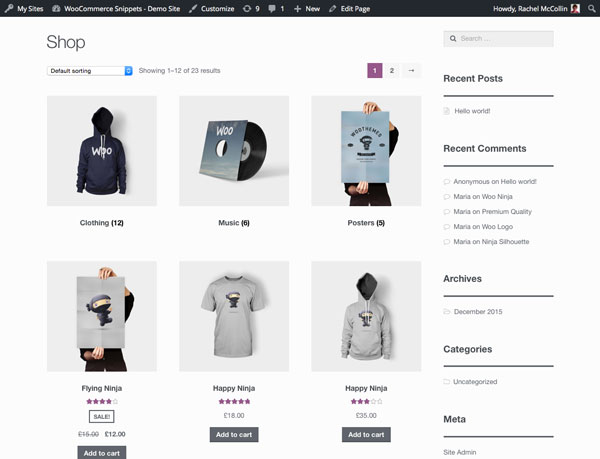Display WooCommerce Categories, Subcategories, and Products in Separate Lists