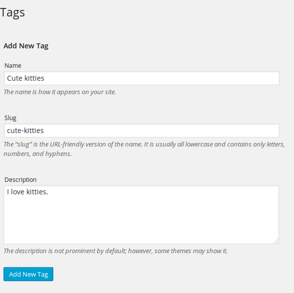 WordPress Tags Explained