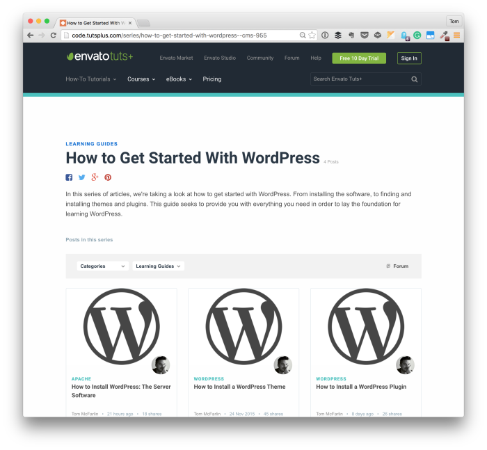 Get Started with WordPress