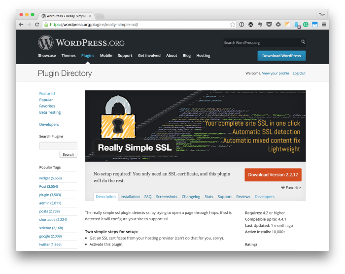 Really Simple SSL For WordPress