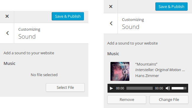Using the WordPress Theme Customizer Media Controls