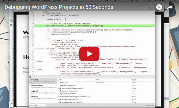 Debugging WordPress Projects in 60 Seconds
