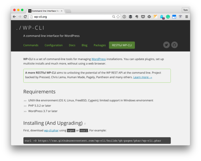 Installing WP-CLI with MAMP