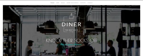 Diner: A Free Divi Layout for Restaurants