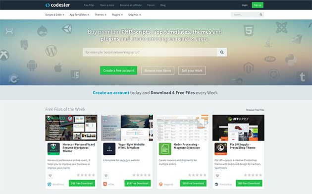Codester – a Fast Growing Marketplace For WordPress Themes and Plugins