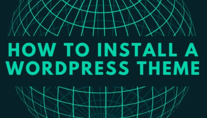 globe showing how to install a wordpress theme