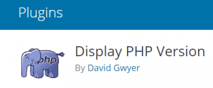 Display PHP Version Plugin Screenshot