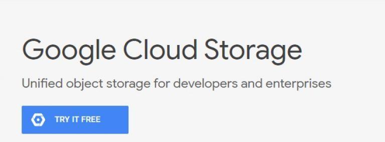 screenshot of google cloud storage